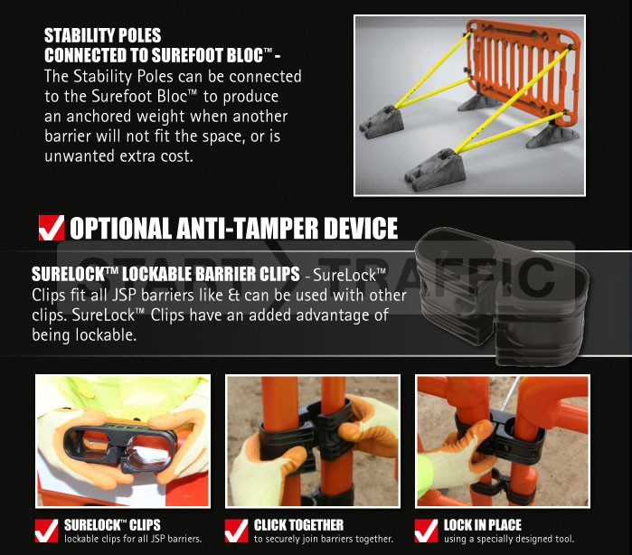 Anti-tamper system for the Frontier barrier
